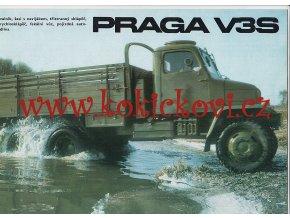 Praga V3S - prospekt - Motokov - Avia Letňany - A4 - 12 stran - česky