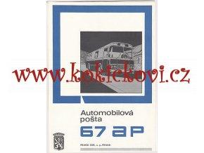 AUTOMOBILOVÁ POŠTA 67 AP - REKLAMNÍ PROSPEKT A4 - 4 STRANY - PRAGA ZKG - MOTOKOV