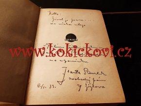 FRANTA SAUER -  SVOBODNÝ PÁN ZE ŽIŽKOVA PAŠERÁCI VĚNOVÁNÍ A PODPIS 1933 - anarchismus - přítel Haška