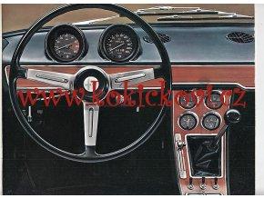 Alfa Romeo 1750 - reklamní prospekt formát A4 - anglicky