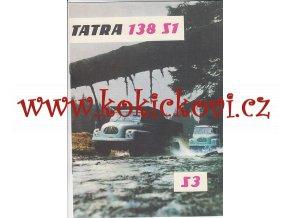 Tatra 138 S1, S3 - 1965 - reklamní prospekt - 8 stran A4 IA stav