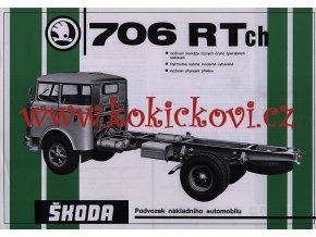 ŠKODA 706 RT ch podvozek nákladního automobilu - reklamní leták - 1 list A4 - texty česky