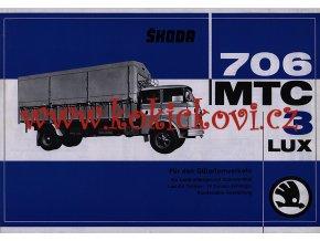 ŠKODA 706 MTC 3LUX - reklamní leták - 1 list A4 - texty německy