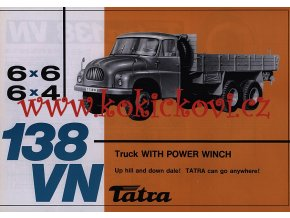 Tatra 138 VN 6 x 6, 6 x 4 TRUCK WITH POWER WINCH - prospekt - Motokov
