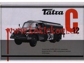 Tatra C 12 cisterna - prospekt A4 - Motokov - texty rusky- 1 list