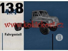 Tatra 138 4 x 4 - prospekt A4 - Motokov - texty německy - 1 list