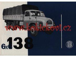 Tatra 138 6 x 6 - prospekt A4 - Motokov - texty německy - 1 list