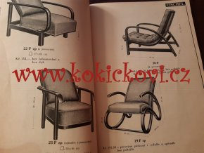 Katalog nábytku FISCHEL - Mimoň - ohýbané dřevo - rok 1934/35 - 80 stran