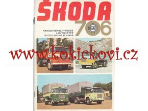 LIAZ - Škoda 706 - valníkové automobily, sklápěčové automobily, tahače návěsů - prospekt - Motokov - NĚMECKY