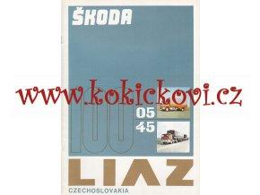 Liaz - Škoda 100.05, 100.45 - prospekt - Motokov A4