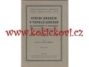 Státní hřebčín v Topolčiankách - Dr. Karel Sejkora - 1938 -původní brož