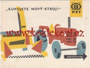 Kupujete nový stroj?, PZT - seznam prodejních středisek - pro sběratele 196?