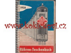 KATALOG ELEKTRONEK TELEFUNKEN 1958 - A6 - 408 STRAN KROUŽKOVÁ VAZBA