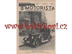 ČESKOSLOVENSKÝ MOTORISTA 1. ROČ. 1930 LIGA ČSL. MOTORISTŮ (ČÍSLA 2-10)