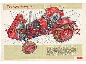 UČEBNICE ŘIDIČE TRAKTORU 1967  - pouze obrazová příloha např. ZETOR 3011