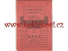 Komunistický manifest faksimile českého vydání komunistického manifestu 1898 (Rokycany)