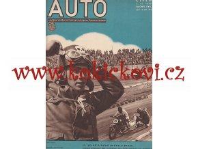 ČASOPIS AUTO - POUZE OBÁLKA Č. 3/1935 - VHODNÉ K DEKORACI NEBO ZARÁMOVÁNÍ