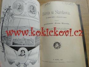 Bitva u Chotusic r. 1742 (vydání 1887) + Bitva u Slavkova 1805 (vydání 1898) - 2x mapa bitvy