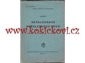 Metalografie neželezných kovů - Vojtěch Jareš - 1950 - 380 str