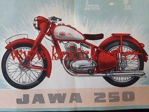 JAWA 250 pérák - Zbrojovka Brno - SRPEN 1948 - reklamní prospekt - ORIGINÁL