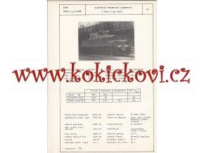 ELEKTRICKÁ POSUNOVACÍ LOKOMOTIVA S 458.0 - ČSSR ŠKODA PLZEŇ - TYPOVÝ LIST
