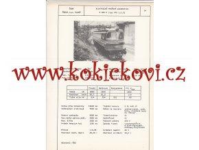 ELEKTRICKÁ TRAŤOVÁ LOKOMOTIVA S 489 0 - ČSSR ŠKODA PLZEŇ - TYPOVÝ LIST
