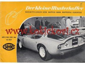 DER KLEINE MUSTERKOFFER 1965 - HEFT 152 - RENAULT 16 - FIAT 850 SPIDER - MASERATI