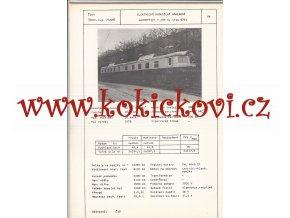 ELEKTRICKÁ DVOUDÍLNÁ NÁKLADNÍ LOKOMOTIVA TYP E 469 5 (TYP 67E)  - ČSSR ŠKODA PLZEŇ - TYPOVÝ LIST