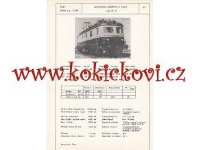ELEKTRICKÁ LOKOMOTIVA S 479.0 (TYP 39 E)  - ČSSR ŠKODA PLZEŇ - TYPOVÝ LIST