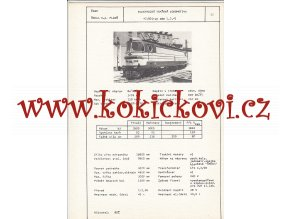 ELEKTRICKÁ TRAŤOVÁ LOKOMOTIVA TYP 46  E 2,3,4)  - ČSSR ŠKODA PLZEŇ - TYPOVÝ LIST
