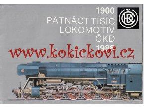 PROSPEKT LOKOMOTIVY ČKD 1900-1988; T478, T434