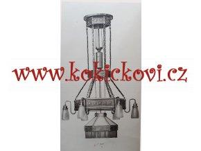 1909 D.B. SECESE KATALOG LUSTRY SVÍTIDLA LAMPY ALA TIFFANY  64 STRAN