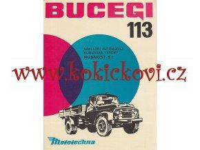 BUGERI 113 - NÁKLADNÍ AUTOMOBILY RUMUNSKÉ VÝROBY - TŘÍSTRANNÝ SKLÁPĚČ - VALNÍK - MOTOTECHNA PROSPEKT A4 - ČESKY