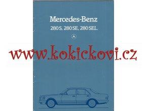 Mercedes - Benz 280 S, 280 SE a 280 SEL - prospekt - 1983 -32 stra A4