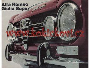 Alfa Romeo - Giulia Super - reklamní prospekt - 24 stran A4 - 197? - italsky
