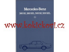 Mercedes - Benz 380 SE, 380 SEL, 500 SE, 500 SEL - prospekt - 1983 -36 stran A4