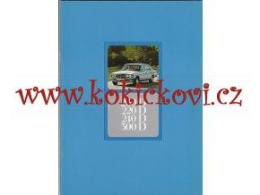 Mercedes - Benz 200 D, 220 D, 240 D A 300 D - prospekt A4 - 1977 -38 stran