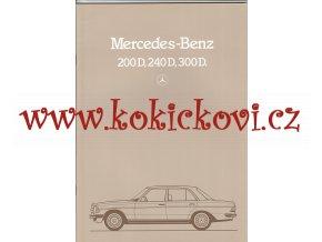 Mercedes - Benz 280 D, 240 D a 300 D - prospekt - 1983 -32 stra A4