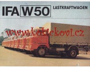 IFA W 50 5.3 t - výrobní program - reklamní prospekt - texty německy - poškozeno -  8 stran A4