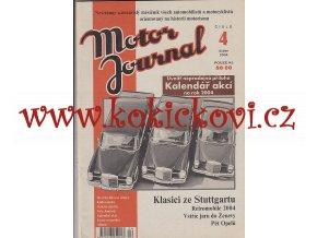 Motor Journal č.4/2004 - A4 - 60 stran - pěkný čistý stav