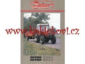 TRAKTOR ZETOR 5320 A 5340 - REKLAMNÍ PROSPEKT A4 - 6 STRAN