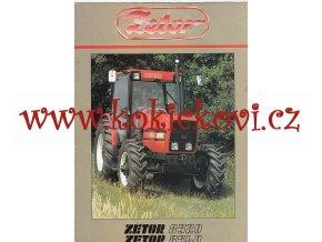 TRAKTOR ZETOR 8520 A 8540 - REKLAMNÍ PROSPEKT A4 - 8 STRAN