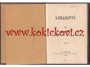LUKAŘSTVÍ - R. PURGHART - ČESKÉ BUDĚJOVICE 1891