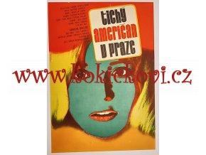 Filmový plakát A3 Tichý Američan v Praze - Vaca, Karel -1977