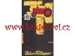 ZETOR 50 SUPER TRAKTOR - reklamní prospekt Motokov - česky
