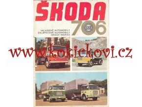 LIAZ - Škoda 706 - valníkové automobily, sklápěčové automobily, tahače návěsů - prospekt - Motokov - ČESKY