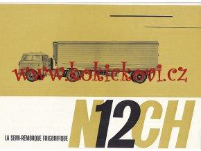 Škoda 706 RTTN, Orličan - chladírenský přepravník N 12 CH - prospekt - 1965