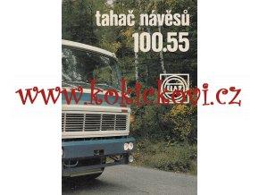 Liaz 100.55 - tahač návěsů - reklamní prospekt - 4 strany A4