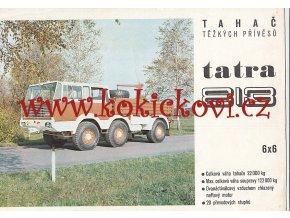 Tatra 813 6 x 6 - tahač těžkých přívěsů - reklamní prospekt A4 - 8 stran - česky -Motokov