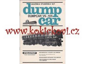 6nápravový výklopný vůz Dumpcar reklamní prospekt 1975 - A4 - 8 stran
